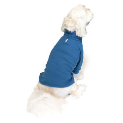 Cute Pet Dog Cat Clothes Casual Outdoor FRENCH TERRY COLOR TURTLE NECK TEE S XXL