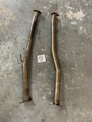 Test Pipes 2.5 For 90-96 Nissan 300zx Z32 Tt 2+0 Exhaust Mid Section Turbo