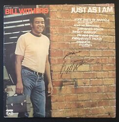 Bill Withers Signed Autographed Album Lp Just As I Am Beckett Bas Auth Rare