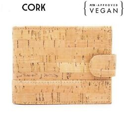 Cork Wallet For Men Rfid Eco Friendly Sustainable Gift Durable Lightweight