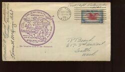 1938 Pilot And Pm Signed Natl Air Mail Week Cover Mailed Friday Harbor Wa Namw