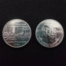 1982 1984 Canada One Dollarconfederation + Jacques 1 Dollar 2 Coin Set