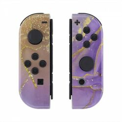 Cosmic Purple Gold Marble Effect Controller Shell For Nintendo Switch Joy-con
