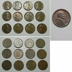 Lot Of 12 High Grade 1955 Poor Man's Double Die Lincoln Cents