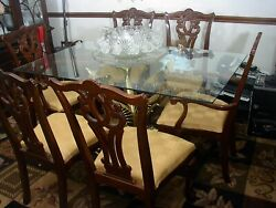 Solid Brass Koi Fish Dining Table With Glass Table Top