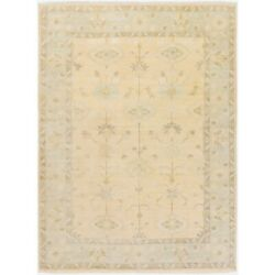Surya Atq-1011 Antique Area Rug 3and0396and039 X 5and0396and039 Khaki/pale Blue