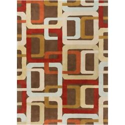 Surya Fm-7106 Forum Area Rug 10and039 X 14and039 Rust/camel