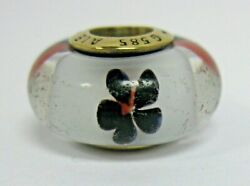Pandora 14k Gold Black And Red Cherry Blossom Murano Charm 750513 Discontinued