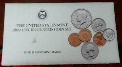 1989 P And D Us Mint Uncirculated Coin Set 12 Coins - B