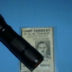 Rare Ww2 Military Soldier German Pow Camp Doctor Id Camp Forest Prisoner Of War