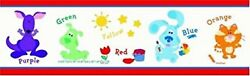 New Blue#x27;s Clues Wall Border Kids Decor 12 Feet Pre Pasted Orange Cat amp; More