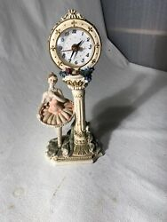 Ballerina Clock Cute 5andrdquo Wide 11andrdquo Tall Works Good Resin Material 16