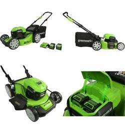 Greenworks Electric Power Corded Or 40v 21 Brushless Lawn Mower, 4ah And 2ah Us