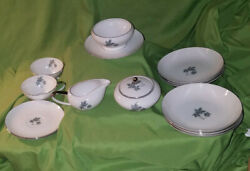 Jyoto Fine China Japan Gravy Boats 2 Teacups And Saucers Cream And Sugar 6 Bowls