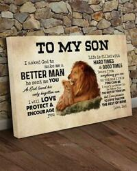 Lion To My Son To Love You For The Rest Of Mine Love Dad Canvas.75in Frame