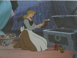 Cinderella And Mice Disney Limited Edition Sold-out Cel