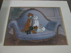 Aristocats Disney Limited Edition Sold-out Cel Duchess Oand039malley And Kittens