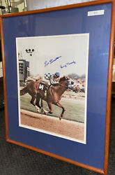 Penny Tweedy And Ron Turcotte Autograph Secretariat May 5th 1973 Rare 16x20