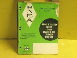1964 Bands Clinton Kohler Tecumseh West Bend Ohlsson And Rice Aea Parts Catalog 33pg