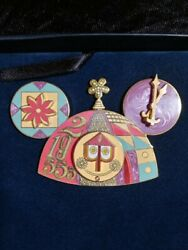 Wdw Le 2005 Jumbo Disney Pin It's A Small World After All Mickey Ear Hat