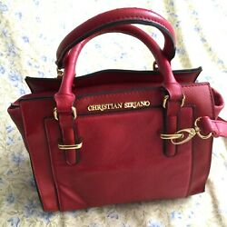 Christian Siriano Satchel Women#x27;s Leather Red Bag $40.00