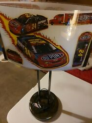 Great Christmas Gift Heavy Jeff Gordon Floor Lamp With Glass Inserts
