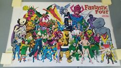 Fantastic Four Created By Stan Lee And Jack Kirby Poster 1984 Marvel Art-118