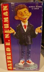 """Vintage Alfred E. Neuman Mad Magazine 12"""" Statue, New In Box – Certified Mad"""