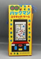 Rare Vintage Japanese Pac Man Scratch Off Trading Card Full Store Display Japan