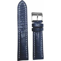 New Breitling Leather 24-20mm Blue Menand039s Strap With Buckle 746p-a20ba.1