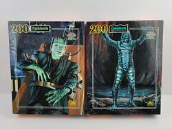 Vtg Universal Monsters Frankenstein Creature 200 Piece Puzzle Factory Sealed