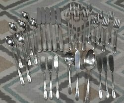 Vtg Silverplate Flatware Lot/31 Pieces Is Wm Rogers Devonshire Mary Lou Grille