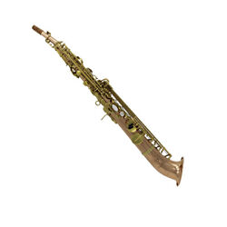 Eastern Music Copper Body J Type Curved Bell Soprano Saxophone Saxello On Sale
