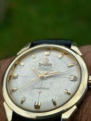 Vintage Omega Constellation Pie Pan 2782-6sc Gold And Steel
