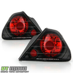 For Black 1998 2002 Honda Accord 2 Door Coupe Tail Lights Brake Lamps LeftRight