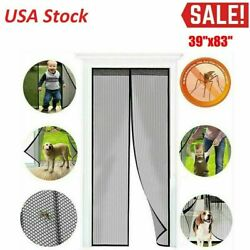 Hands Free Magnetic Screen Door Mesh Net Mosquito Fly Insect Bug Curtain Closer $7.88