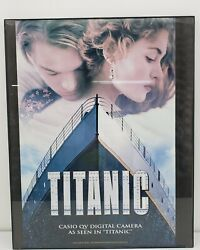 Vintage Titanic Exhibit Poster 20 X 16 With Frame And Exhibit Entrance Tickets
