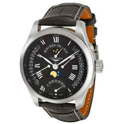 Longines Master Collection Moon Phase Gmt Black Leather Menand039s Watch L27394517
