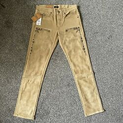 Polo Vintage Women Jeans The Heritage Straight Cow Leather Size 27