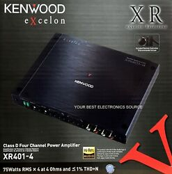 New Kenwood Xr401-4 Xr Series, 2-ohm Stable, 4-channel Car Audio Amplifier