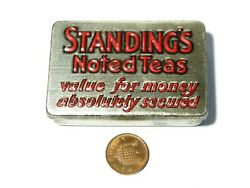 C1930's Standing's Noted Teas Sample Size Advertising Tin With Match Striker 2