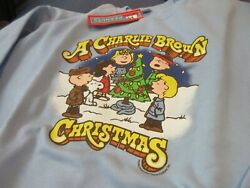 Vintage Snoopy Charlie Brown Christmas T Shirt New Old Stock Size L