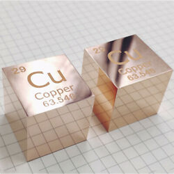 Element Collection Copper Cube Purity 99.9 Engraved Periodic Table 10/25.4mm