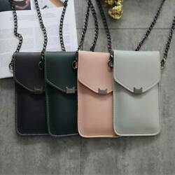 Leather Mobile Phone Bags Transparent Messenger Waterproof Touch Screen LI $8.66