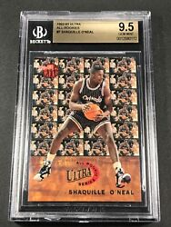 Shaquille Oand039neal Shaq 1992 Fleer Ultra 7 All Rookie Rc Bgs 9.5 Gem Mint