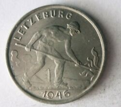 1946 Luxembourg Franc - High Quality Coin - Free Ship - Bin 95