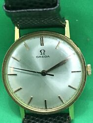 Antique Or Vintage 18ct Yellow Gold Omega Watch 1950s-60s Strap Working