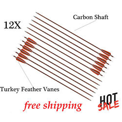 Archery Arrows Hunting Carbon 400 Spine Bare Shafts For Compound Recurve Bows