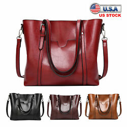 Women Bag Satchel Hobo Top Handle Tote Shoulder Purse Leather Crossbody Handbag $21.89