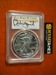 2016 S Silver Eagle Pcgs Ms70 Struck At San Francisco Robin Yount Hand Signed